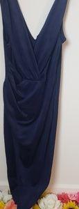 Blue dress w/thigh split